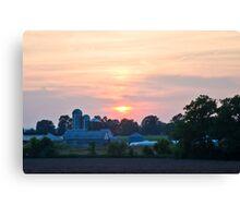 Berks County Sunset Canvas Print