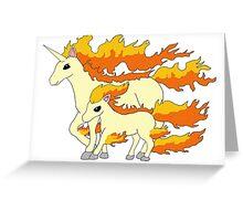 Rapidash & Ponyta Greeting Card