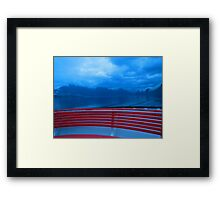 #red lake Framed Print