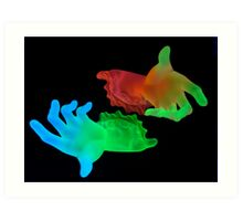 UV Hands Art Print