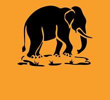 Asian Elephants Ahead / Thai Elephant Trekking Traffic Sign Womens Fitted T-Shirt