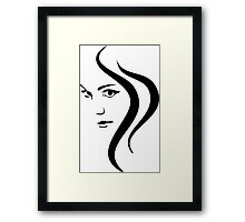 Girl Face and Hair Framed Print