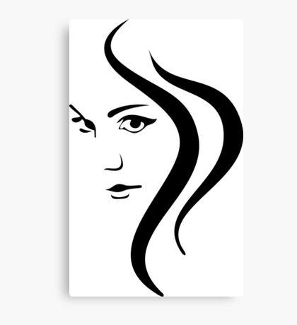 Girl Face and Hair Canvas Print