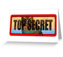 top secret Greeting Card