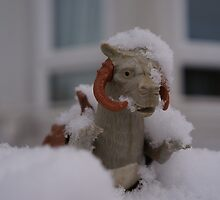 Tauntaun in snow by hayleymonkey