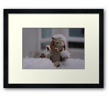 Tauntaun in snow Framed Print