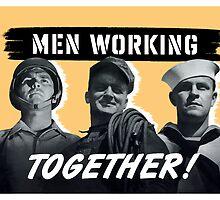Men Working Together -- World War Two by warishellstore