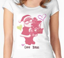 Happy Xmas Women's Fitted Scoop T-Shirt
