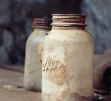 Old Dusty Mason Jars by MWAC