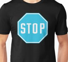 Just think of a stop sign, but Blue. Unisex T-Shirt
