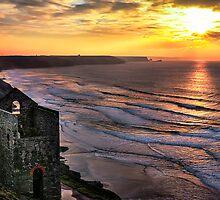 Wheal Coates Sunset by Matt Thorning