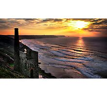 Wheal Coates Sunset Photographic Print