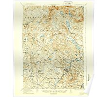 USGS TOPO Map New Hampshire NH Gilmanton 330044 1927 62500 Poster
