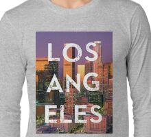 Los Angeles - Text Overlay Long Sleeve T-Shirt