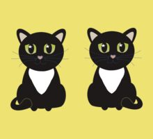 Two Black and White Cats Kids Clothes