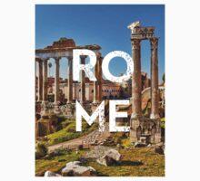 Rome - Text Overlay One Piece - Short Sleeve
