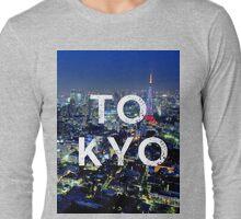 Tokyo - Text Overlay Long Sleeve T-Shirt