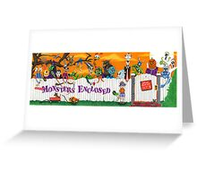 MONSTERS ENCLOSED  Greeting Card