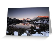Shot of the Day at Cradle Mountain Greeting Card