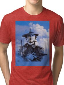 Clint in the clouds Tri-blend T-Shirt