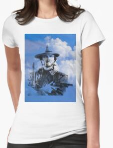 Clint in the clouds Womens Fitted T-Shirt