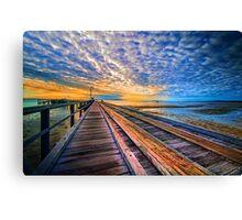 Rainbow Pier... Canvas Print