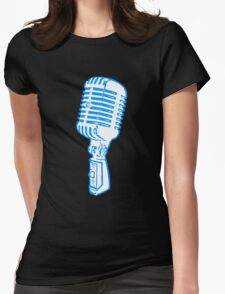 Old Microphone Design Womens Fitted T-Shirt
