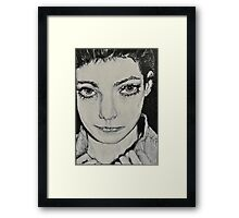 'Before Braces' Self Portrait Framed Print