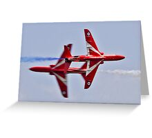 Red Arrows Synchro Pair Greeting Card
