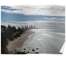 Beach View of Surfers Paradise Poster