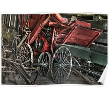 Vintage Wagons Poster