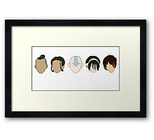 Team Avatar graphic heads Framed Print