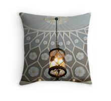 Beautiful Ceiling and Lamp In Vestible, Montclair Art Museum Throw Pillow