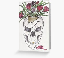 Flowers In My Skull Greeting Card