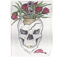 Flowers In My Skull Poster