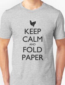 Keep Calm & Fold Paper (Chicken) T-Shirt