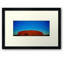 Uluru Sunset Framed Print