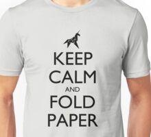 Keep Calm and Fold Paper (Unicorn) Unisex T-Shirt