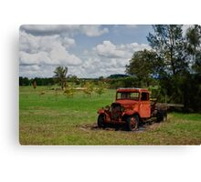 Rusty Red Truck Canvas Print