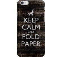 Keep Calm and Fold Paper - Unicorn / Metal iPhone Case/Skin