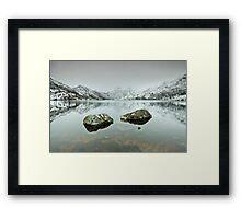 Those Rocks Framed Print