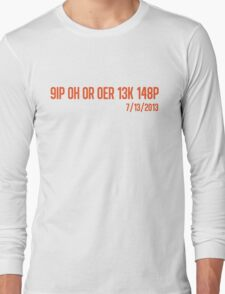 Freak No Hitter (Orange) Long Sleeve T-Shirt