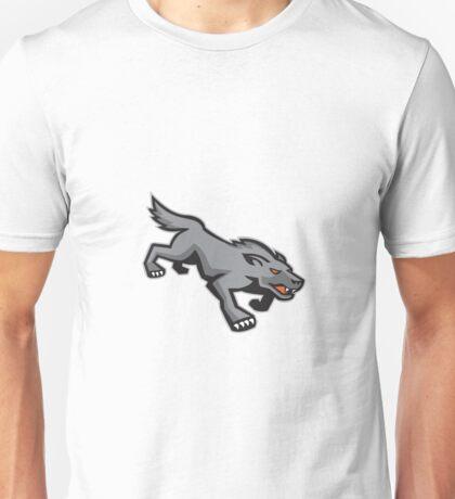 Wild Dog Wolf Stalking Retro Unisex T-Shirt