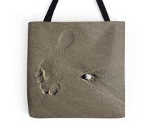 One Large Footprint Tote Bag