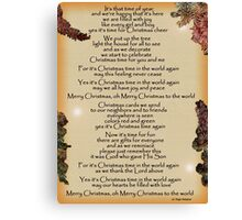 Merry Christmas To The World Canvas Print