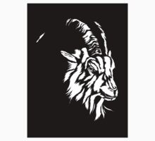 Goat Head - Sticker by Brian J. Smith (Dangerous Days)