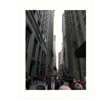 Wall Street, NYC Art Print