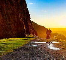 You, Me, And The Road Ahead - Holyrood Park by Mark Tisdale