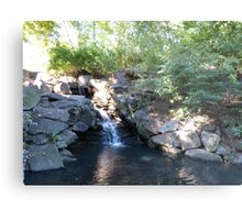 Waterfall, Central Park, NYC Metal Print