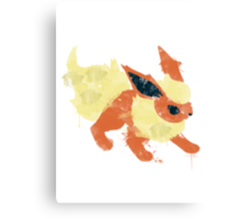 Graffiti Flareon Canvas Print